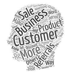 Referrals Build Profits The Best Kind Of Customer vector image