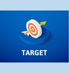 target isometric icon isolated on color vector image