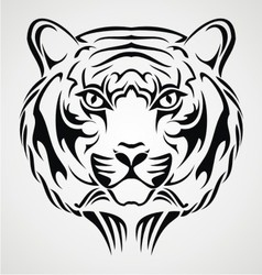 Tiger Face Tattoo Design vector image vector image