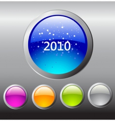 2010 buttons vector image vector image