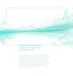 Abstract wireframe background vector image vector image