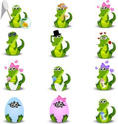 Crocodile or alligator vector