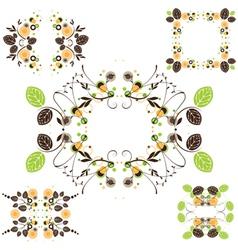 Leaves frame - set vector image