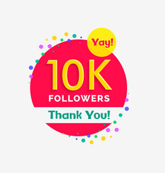 10000 followers poster with thank you vector image