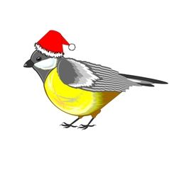 A cute Christmas titmouse vector