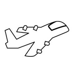 Airplane silhoutte Transportation design vector