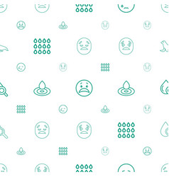 Aqua icons pattern seamless white background vector