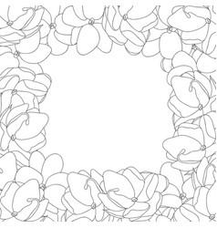 Arabian jasmine outline border vector