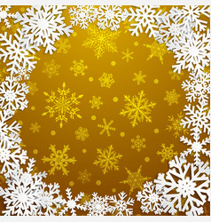 background with frame of snowflakes vector image