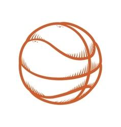 Ball icon Basketball design graphic vector image
