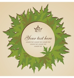 Banner with leaves vector image