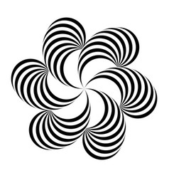 Black and white abstract striped vector