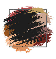 brown spots with frame vector image