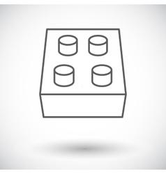Building block icon vector
