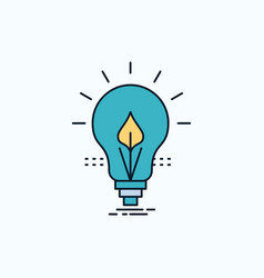 bulb idea electricity energy light flat icon vector image
