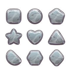 cartoon grey stone assets vector image
