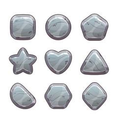 Cartoon grey stone assets vector