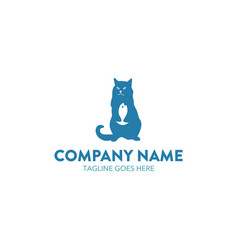 cat logo-17 vector image