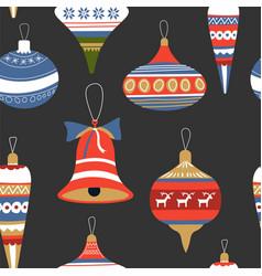 celebration christmas holiday seamless pattern vector image
