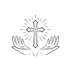 Christian logo religious community symbol icon vector