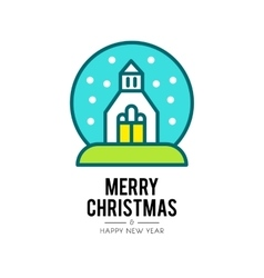 Christmas church isolated icon vector