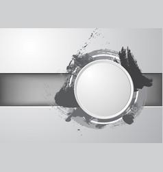 Circle black splash vector