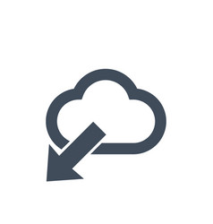cloud download icon flat designdata information vector image