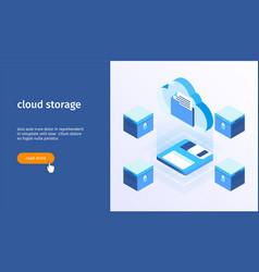 cloud storage banner 05 vector image