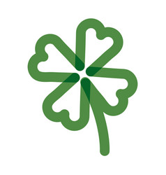 Clover poker symbol multiply line style icon vector