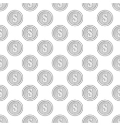 Coin seamless pattern vector image vector image