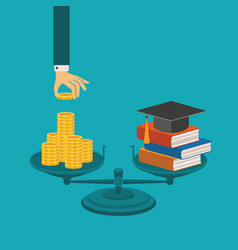Concept of investment in education vector