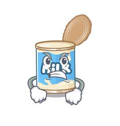 Condensed milk cartoon character design having vector