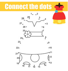 Connect the dots by numbers children educational vector