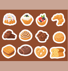 cookie cakes tasty snack delicious vector image