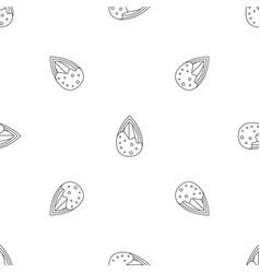 crack almond pattern seamless vector image
