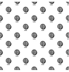 Cutlet pattern seamless vector
