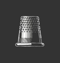 drawing thimble vector image