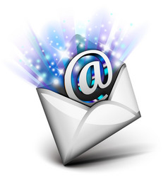 Email radiating vector image