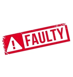 Faulty rubber stamp vector