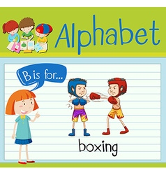 Flashcard letter B is for boxing vector