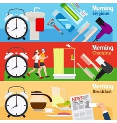 Good Morning New Day Banners vector image