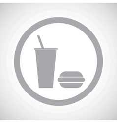 Grey fast food sign icon vector