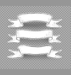 grunge hand drawn ribbon banners vector image
