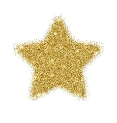 Icon of five-pointed star with gold sparkles vector