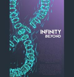 Infinity symbol wireframe mesh vector