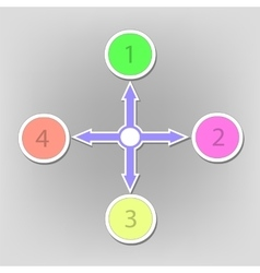 Infographic arrows vector