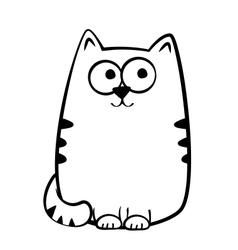 Joyful tabby cat vector