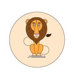 lion cartoon vector image