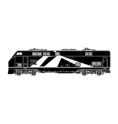 Locomotive Silhouette on White Background vector