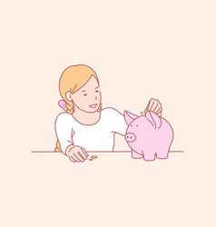 Money savings childhood skill concept vector